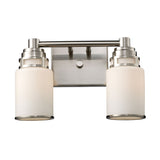 Bryant 2-Light Vanity In Satin Nickel