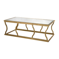 Metal Cloud Coffee Table in Antique Gold Leaf