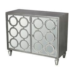 Platinum Ring Cabinet - Clear Mirror with Silver
