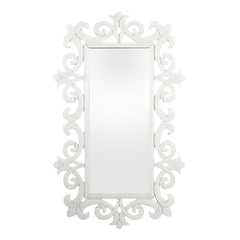 Contemporary Haylee Glass Scroll Work Framed Mirror