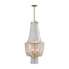 Chaumont 5 Light Chandelier In Antique Gold Leaf