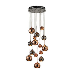 Nexion 15 Light Chandelier In Black Chrome - Small