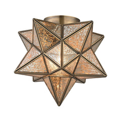 Mercury Moravian Star Flush Mount - Gold
