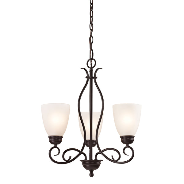 Chatham 3 Light Chandelier In Oil Rubbed Bronze