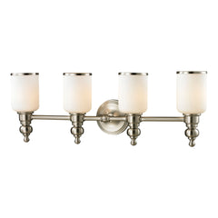 Bristol Collection 4 light bath in Brushed Nickel