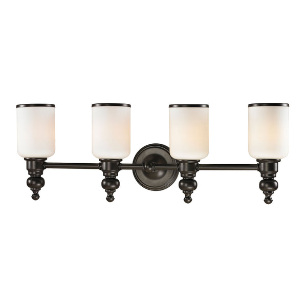 Bristol Collection 4 light bath in Oil Rubbed Bronze
