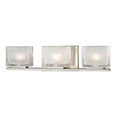 Chiseled Glass Collection 3 light bath in Brushed Nickel
