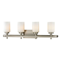 Dawson Collection 4 light bath in Brushed Nickel