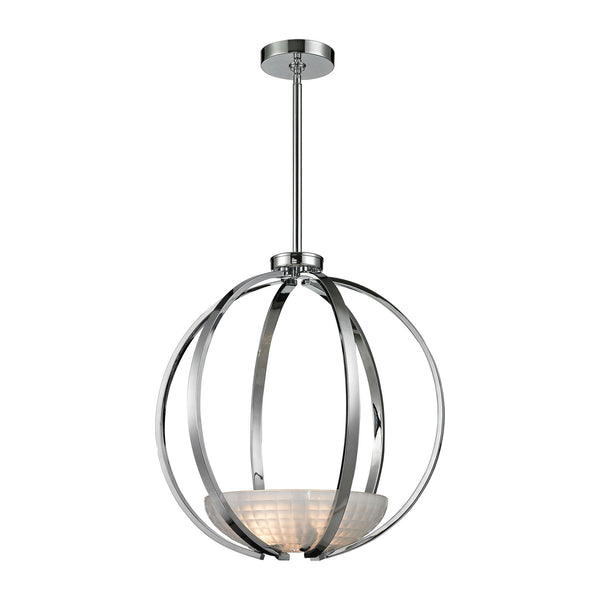 Sculptive 3 Light Pendant In Polished Chrome