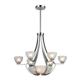 Sculptive 9 Light Chandelier In Polished Chrome