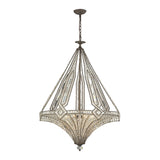 Jausten 7 Light Chandelier In Antique Bronze