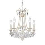 Mini Chandelier In Antique Cream And Clear