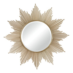 Contemporary Churchfield Metal Frame Starburst Mirror