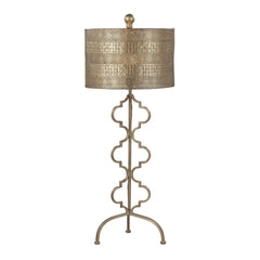 "34"" Transitional Metal Table Lamp in Gold Leaf"