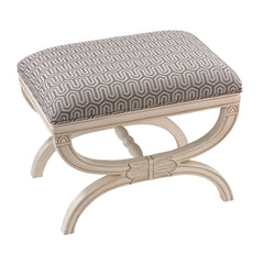 Hardwood Stage Accent Bench in Antique White
