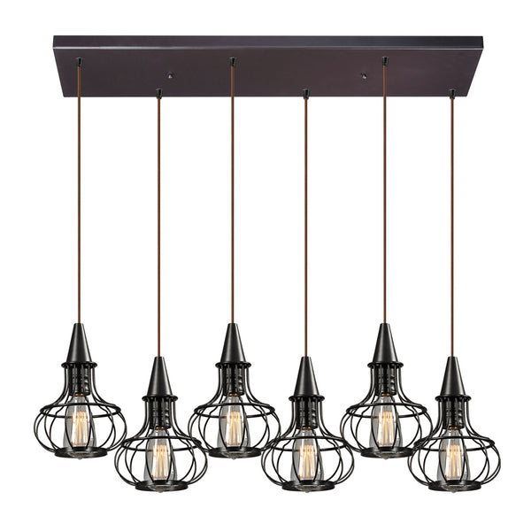 Yardley Collection 6 light chandelier in Oil Rubbed Bronze
