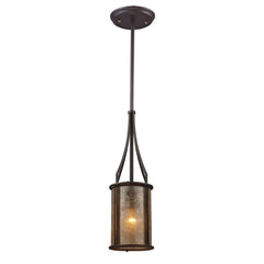 Barringer 1 Light Mini Pendant & Tan Mica Shade