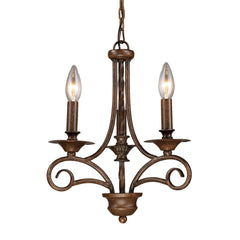 Gloucester 3 Light Chandelier In Antique Bronze