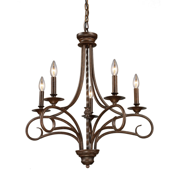 Gloucester 5-Light Chandelier In Antique Bronze