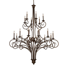 Gloucester 12+6 Light Chandelier In Antique Bronze