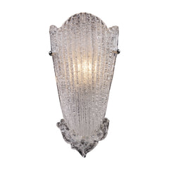 1 Light Sconce In A Silver Leaf Finish