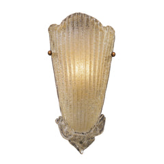 1 Light Sconce In Gold Leaf