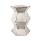 Wax Flanery Accent Table In Polished Concrete
