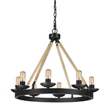 Pearce Collection 8 light chandelier in Matte Black