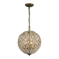 Elizabethan Collection 6 light pendant in Dark Bronze