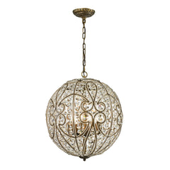 Elizabethan Collection 8 light pendant in Dark Bronze