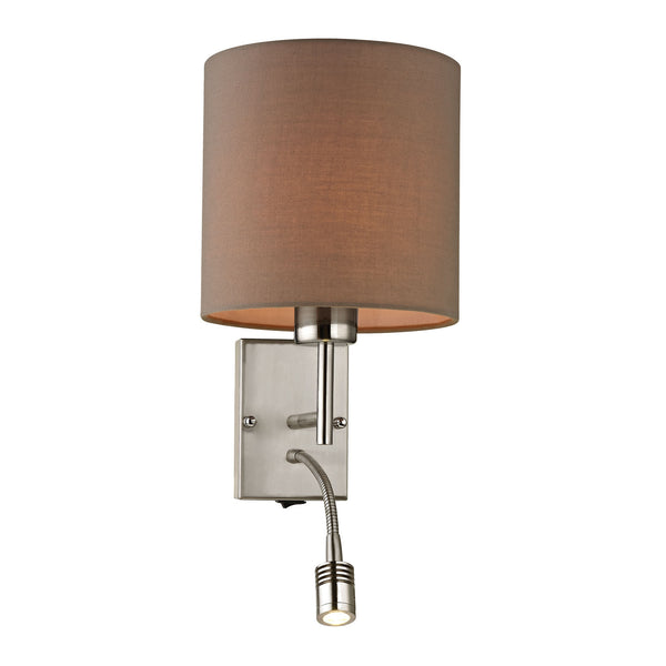 Regina Collection 2 light sconce in Brushed Nickel