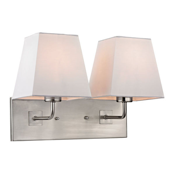 Beverly Collection 2 light sconce in Brushed Nickel