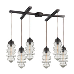 Cipher 6 Light Pendant In Oil Rubbed Bronze
