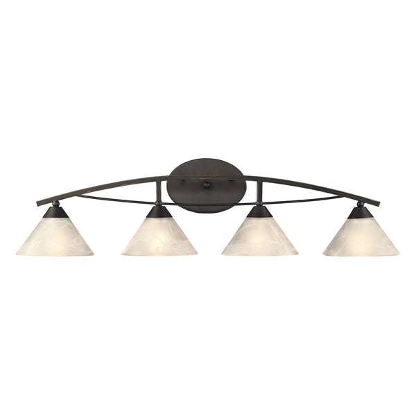 4 Light Vanity In Oil Rubbed Bronze