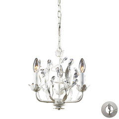 3- Light Chandelier In Antique White With Adapter Kit