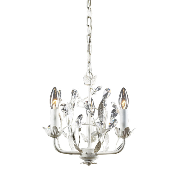 3- Light Chandelier In Antique White