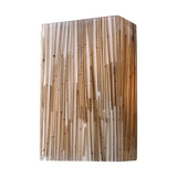 Modern Organics-2-Light Sconce In Bamboo Stem Material In Polished Chrome