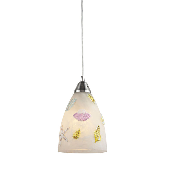 Seashore 1-Light Pendant In Satin Nickel