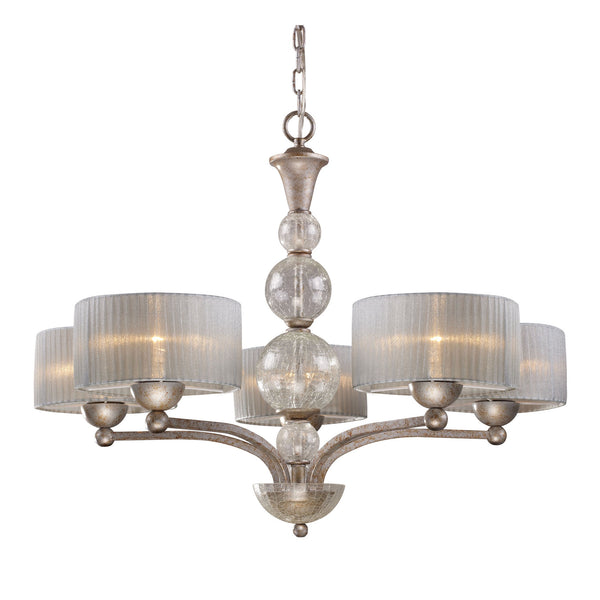 Alexis 5-Light Chandelier In Antique Silver