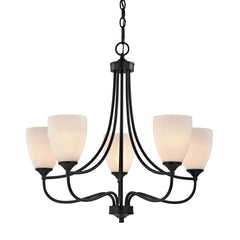 Arlington 5 Light Chandeier In Oil Rubbed Bronze