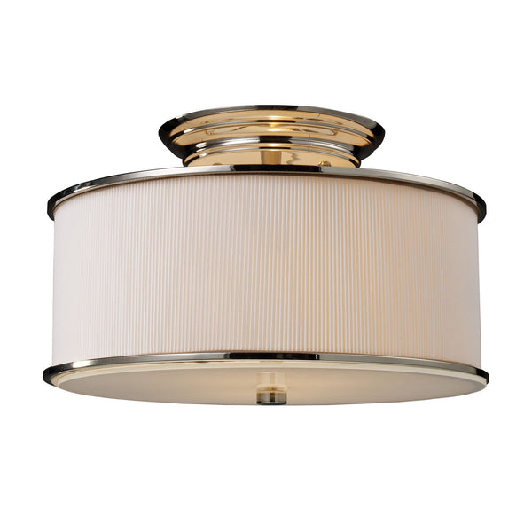 Lureau 2-Light Semi-Flush In Polished Nickel