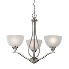 Bristol Lane 3 Light Chandelier In Brushed Nickel