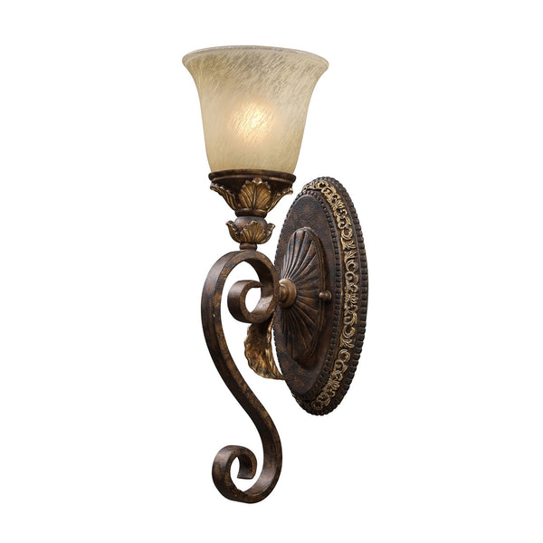 1 Light Wall Sconce In Burnt Bronze