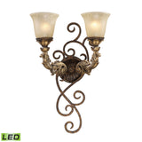Burnt Bronze Regency 2-Light Wall Sconce - LED