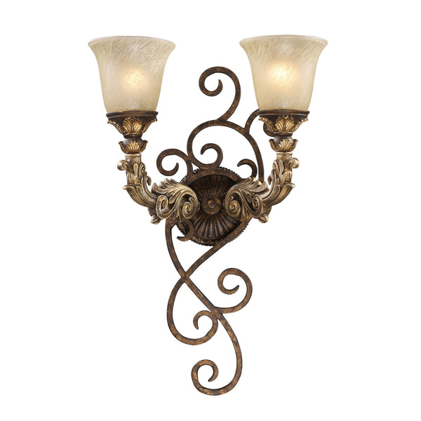 Burnt Bronze Regency 2-Light Wall Sconce