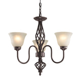 Santa Fe 3 Light Chandelier In Oil Rubbed Bronze