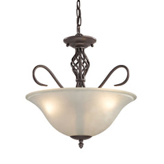 Santa Fe 3 Light Dual Mount In Oil Rubbed Bronze