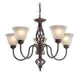 Santa Fe 5 Light Chandelier In Oil Rubbed Bronze
