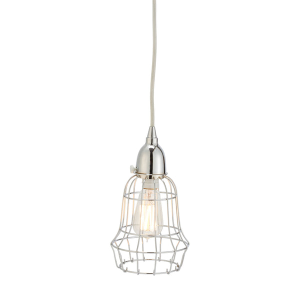 Silver Wire Barrel Pendant Light