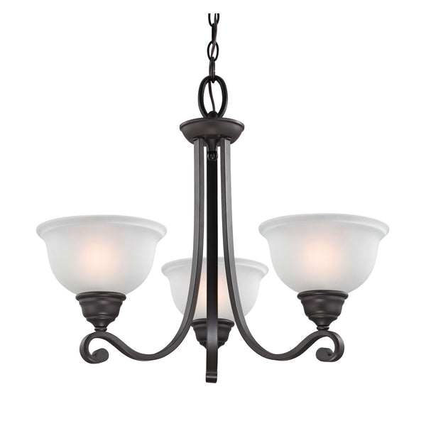 Hamilton 3 Light Chandelier In Oil Rubbed Bronze